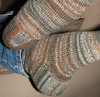 Heel Closeup on Winter Socks