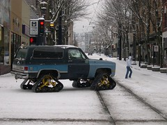 Tank Treads (Mtnclimb007) Tags: snow oregon portland tank monstertruck monstergarage treads 11607