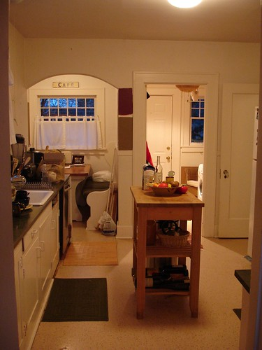 The kitchen....