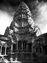 (davidhartstone) Tags: bw cambodia angkorwat infrared digitalinfrared fauxinfrared