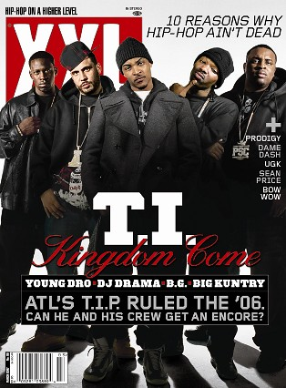 DJ Drama on the cover of XXL with T.I.