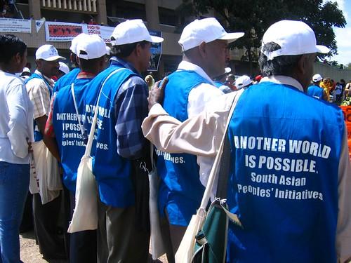 Land rights activists from Sri Lanka