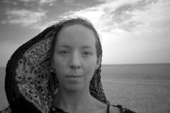 ego-alter b/w (Emilia Tjernstrm [Arriving at the horizon]) Tags: bw selfportrait ego desert north nomad mali touareg tuareg tamashek watsonfellowship tamachek