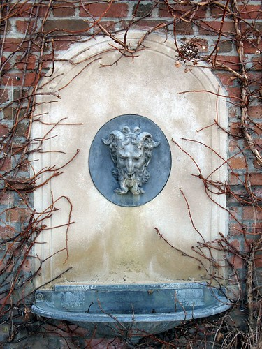 Ivy encroaching Closed Fountain - Winter