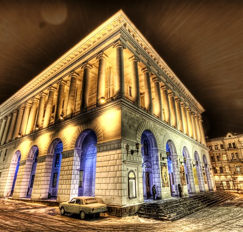 A Snowy Night at the Kiev Opera House by Stuck in Customs.