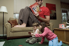 Lazy Saturday (wiseacre photo) Tags: family playing portraits reading big different room large huge wiseacre oversized