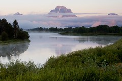 An Oxbow Bend Morning (Robby Edwards) Tags: vacation mountains bird water animal sunrise river nationalpark searchthebest wildlife snakeriver wyoming mountmoran grandteton grandtetonnationalpark americanwhitepelican oxbowbend specland specnature abigfave