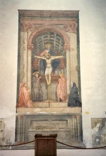 Masaccio's Trinity in Florence, Italy