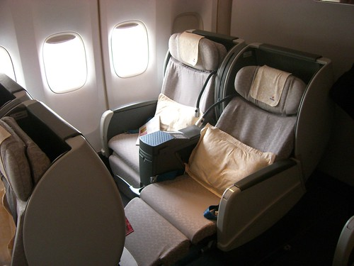 Iberia Business Class. Air China business class.