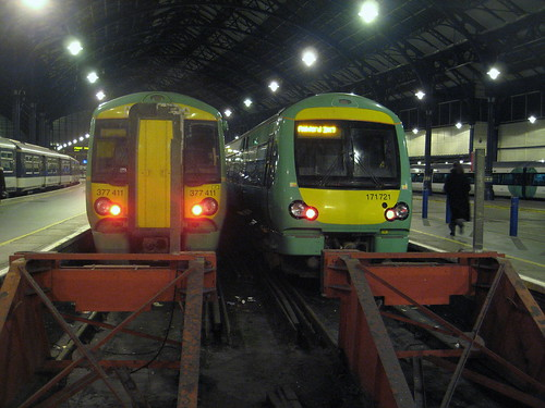 Brighton Station with different sorts of trains