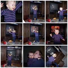 Carpenters Fan Montage (LizaWasHere) Tags: fdsflickrtoys toddler kiss funny dancing motherandchild karencarpenter closetoyou richardcarpenter lesbianfamily