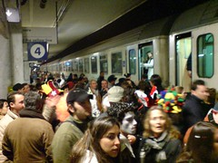 Chaos at the train station