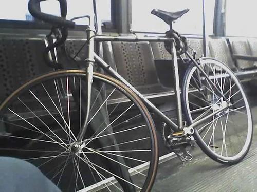 My bike on the bus