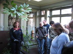 Our tour guide explains how they watered the plants. (01/07)