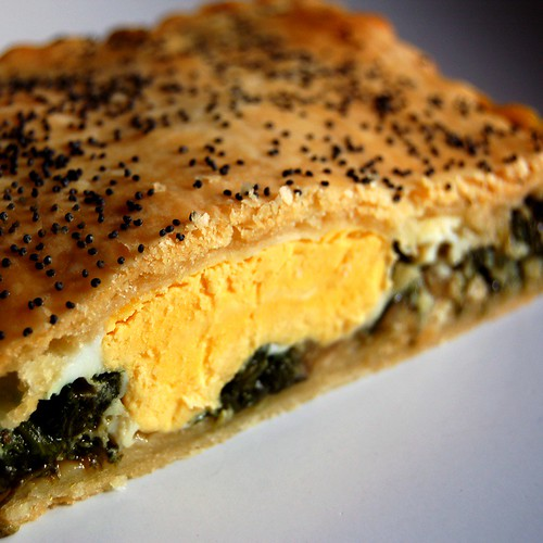 spinach and egg pie©