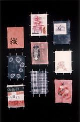 Kite Dreams (SOFennell) Tags: kite cotton kanji rayon hiragana shibori prociondye