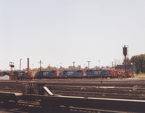 The Grand Trunk Western RR Elsdon Yard engine terminal. Chicago Illinois USA. October 1983. by Eddie from Chicago