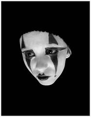 Crying Kabuki (Ernesta Vala) Tags: white black face painting sadness sad mask artistic photos floating kabuki portret