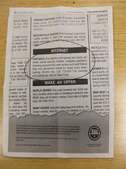 RIAA ad in the UC Berkeley Daily Californian (joebeone) Tags: newspaper ad advertisement stupid riaa ucberkeley dailycal scaremongering dailycalifornian stewpydd