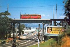 Train Ride to the Beach? (Atwater Village Newbie) Tags: california ca trestle red car cali electric train fletcher drive la losangeles los village pacific angeles trains billboard southern socal atwater southerncalifornia picnik av redcar atwatervillage losangele nela northeastla pacificelectric