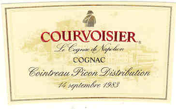 Courvoisier label from 1983