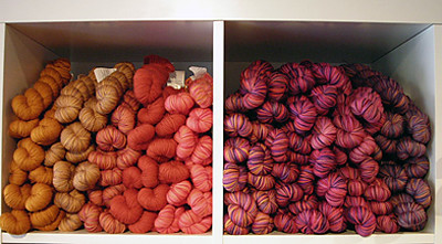 Koigu's KPPPM in oranges and pinks