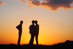 people silhouette (jkairvar) Tags: sunset sky people india silhouette smirk yellows gujarat rajkot 3ofakind golen saurashtra