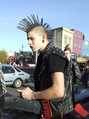 London Punks (kchbrown) Tags: uk london leather camden punks camdenlocks
