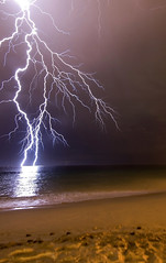 Freak Me Out (DarrynSantich) Tags: wild storm classic beach beautiful beauty weather danger digital coast crazy scary nikon power d70 awesome dramatic australia perth stunning coastline lightning heavens westernaustralia hillarys zap blueribbonwinner awesomenature weatherphotography dramaticnature 50faves50comments500views superbmasterpiece australiathunderstorms winnerbc
