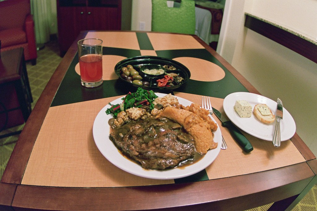 outrageously lux dinner from wegman's, residence inn