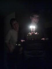 Elina and Kelsey sing Happy Birthday!