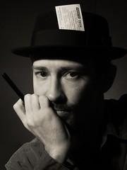 Meegee (Monty Leman) Tags: selfportrait hat weegee porkpie halsman singlelight meegee