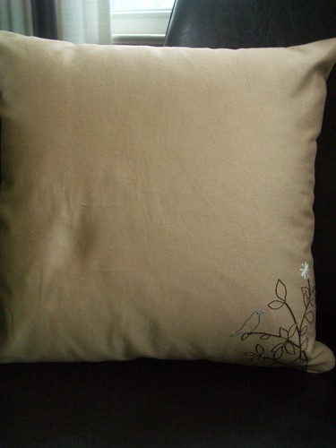 bluebird of happiness pillow