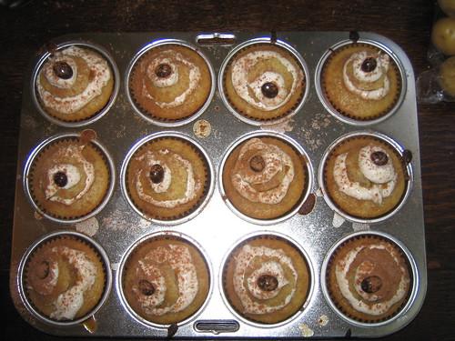 Tiramisu Cupcakes (top view)