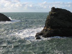 Windy sea at Boscastle