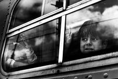 Last train - 11.42 Santa Maria Techicalco (mexadrian) Tags: travel boy window train mexico tren stare veracruz niño bwdreams been1of100bw artlibre thedefiningtouch