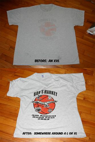 First T-shirt surgery