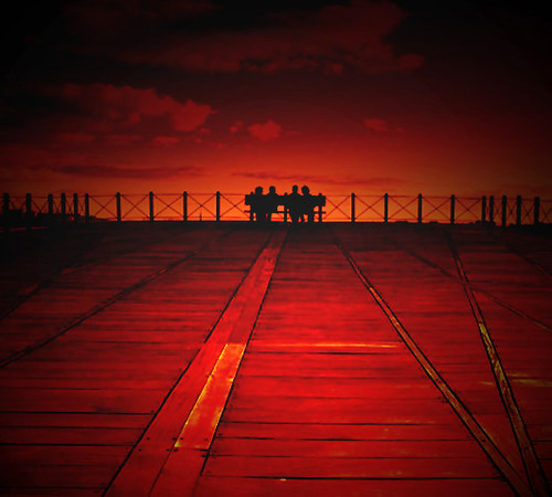 Black,Red,Bench,2Couples & A Strange Perspective.