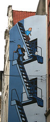 Wall Art - Tin Tin Stairwell (Beana DeeBee) Tags: travel brussels holiday beautiful architecture buildings square march europe belgium eurostar weekend wallart visit journey tintin piazza