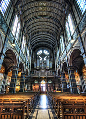 Obsidian Balustrades (Stuck in Customs) Tags: holland church netherlands amsterdam photography nikon candles photographer cross chairs god religion jesus columns d2x chapel symmetry christian stained altar holy spiritual pew pews hdr highquality forgivness d2xs stuckincustoms imagekind treyratcliff focuspocus focuspocus2 curtissimmons