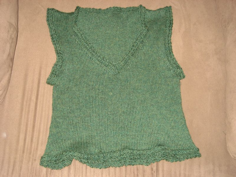 Kathy's vest - front