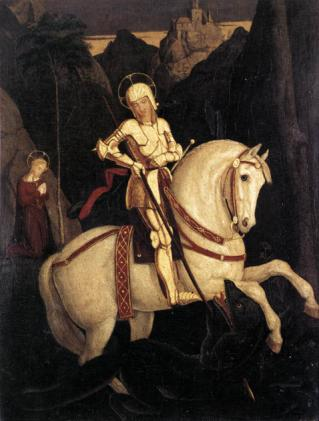 St George and the Dragon, Franz Pforr, 1811