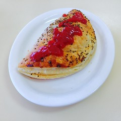 Pepper pasty, Tailem Bend Bakery (The Twisted Pixel) Tags: pasty pastie cornish pepper tomatosauce tomatoketchup hotfood