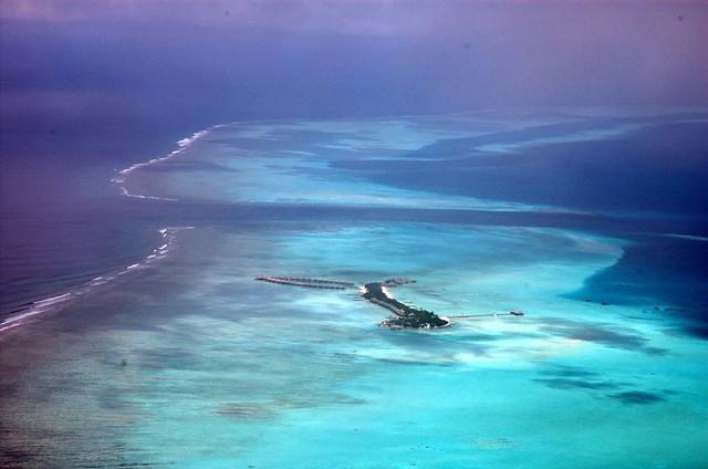 Una isla desde el aire
