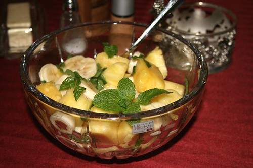 Minted Pineapple Banana Salad