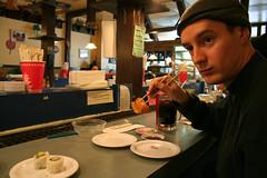 Gary eats sushi