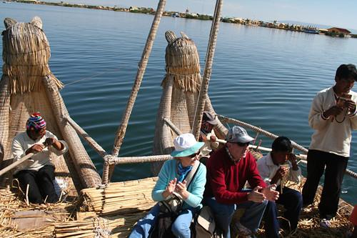 en el Lago Titicaca
