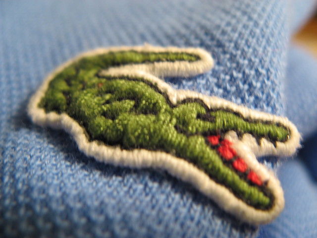 blue fashion shirt logo depthoffield clothes fabric crocodile lacoste apparel
