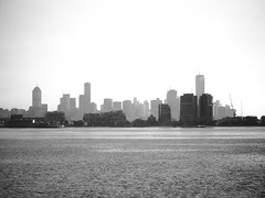 Melbourne (Tom Phillips) Tags: city blackandwhite seascape water skyline australia melbourne eurekatower