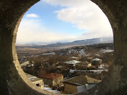 View from top of church in Ude, Georgia